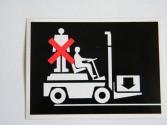 Naklejka - zakaz jady na wózku
