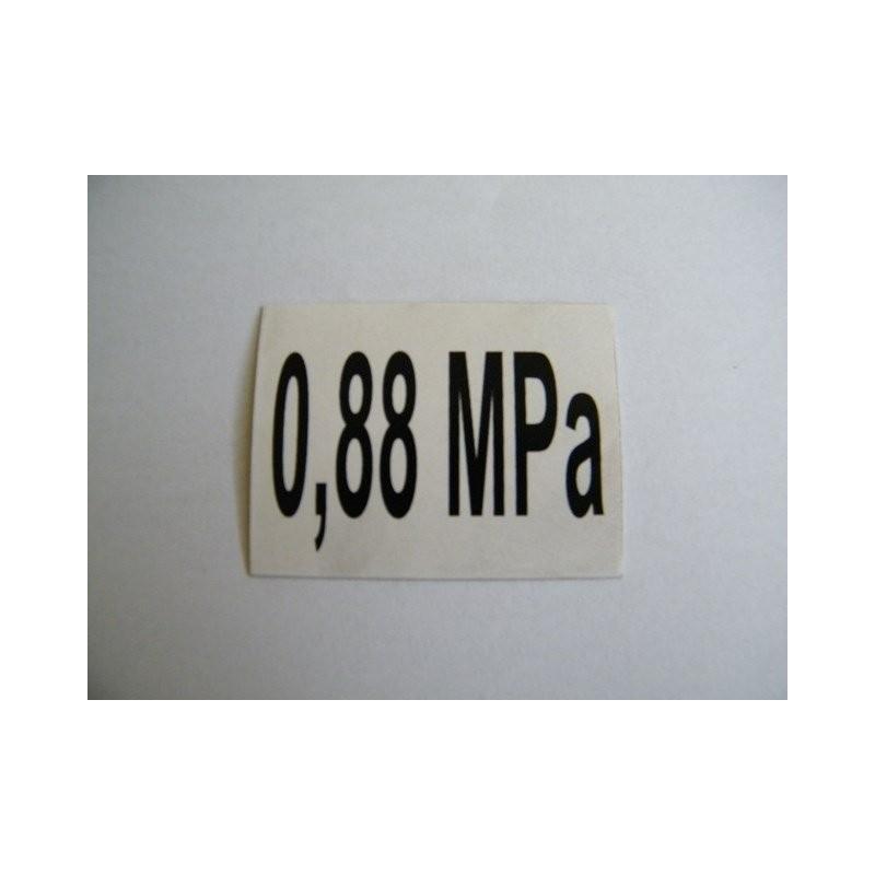 Naklejka ciśnienia kół 0,88 MPa